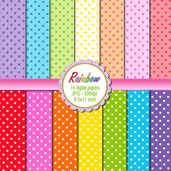Dots clipart rainbow #8