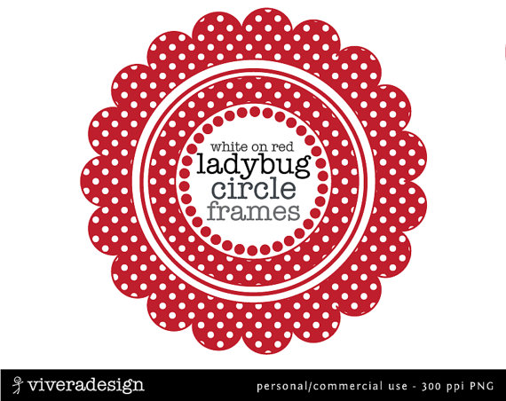 Dots clipart red circle Dots on Ladybug this Digital
