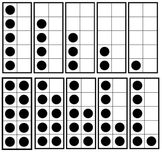Dots clipart ten Ten exploring tes digit frame