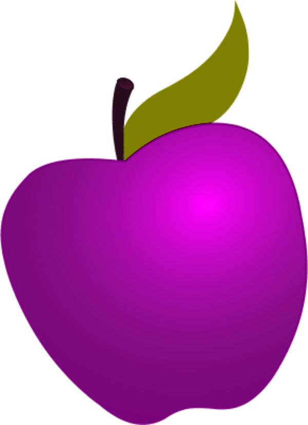 Dots clipart transparent apple  clipart dot apple Purple