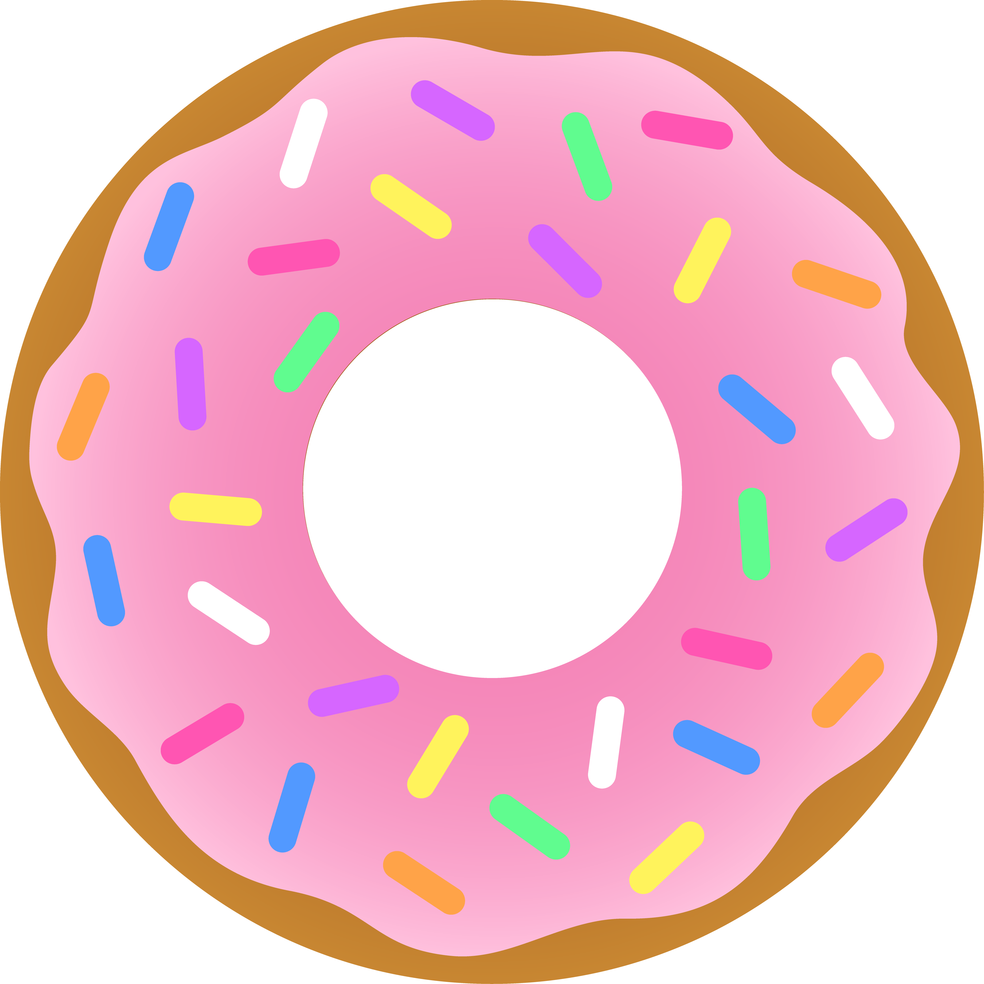 Drawn dougnut Clipart Donuts Free Clipart Coffee