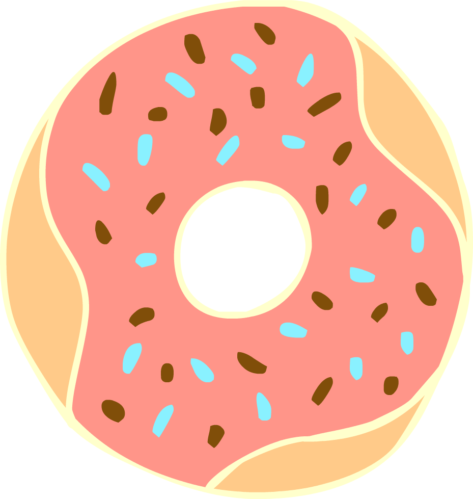 Pastry clipart bitten Clip And Clipart Donut Coffee