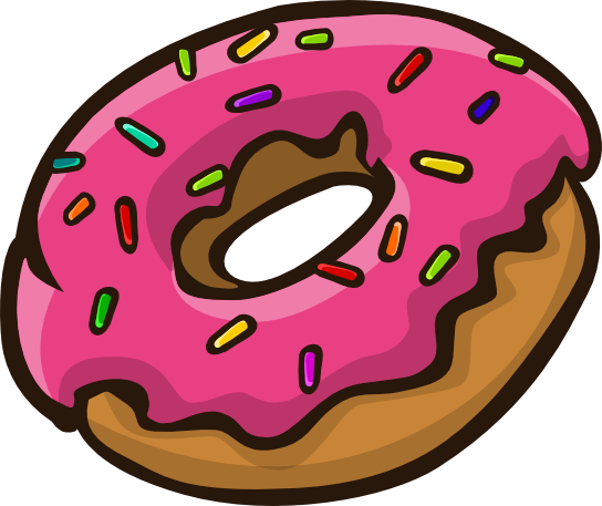Dougnut clipart For background donut collection free