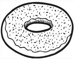 White clipart donut Art white clipart black Free
