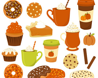 Blueberry Muffin clipart american 80% Spice Clipart Fall Donut