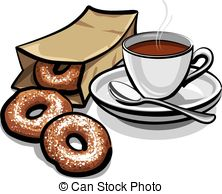 Snack clipart coffee and Coffee Doughnuts Illustration cartoon of