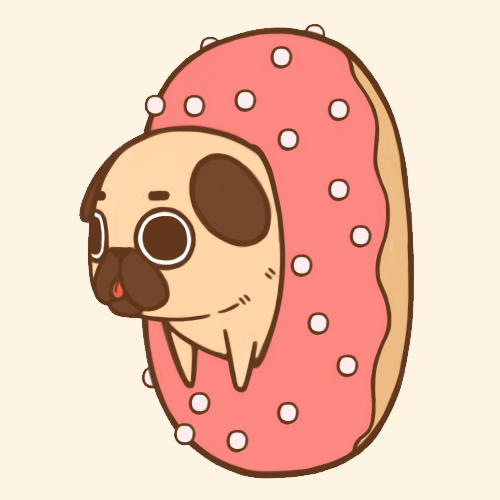 Drawn pug draw a Being  being ified= Donuts