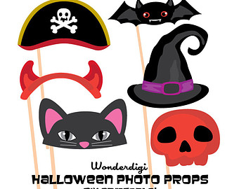 Halloween clipart photo booth Clipart booth Halloween Props Hats