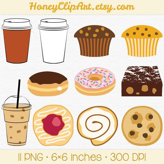 Muffin clipart junk food Iced Clip Food Food Clip