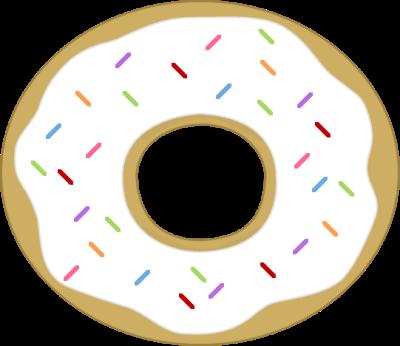 White clipart donut With Sprinkles Sprinkles Donut Donut