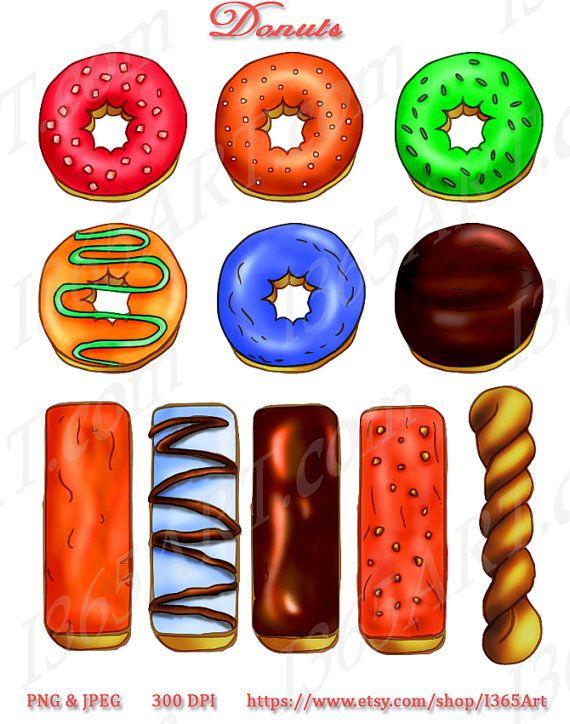 Long clipart donut #1