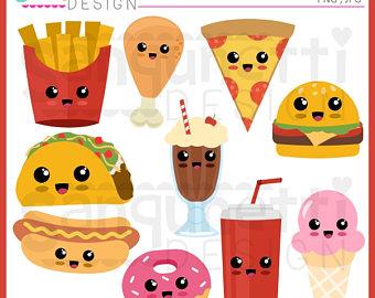 Pizza clipart junk food Clipart clipart clipart kawaii food