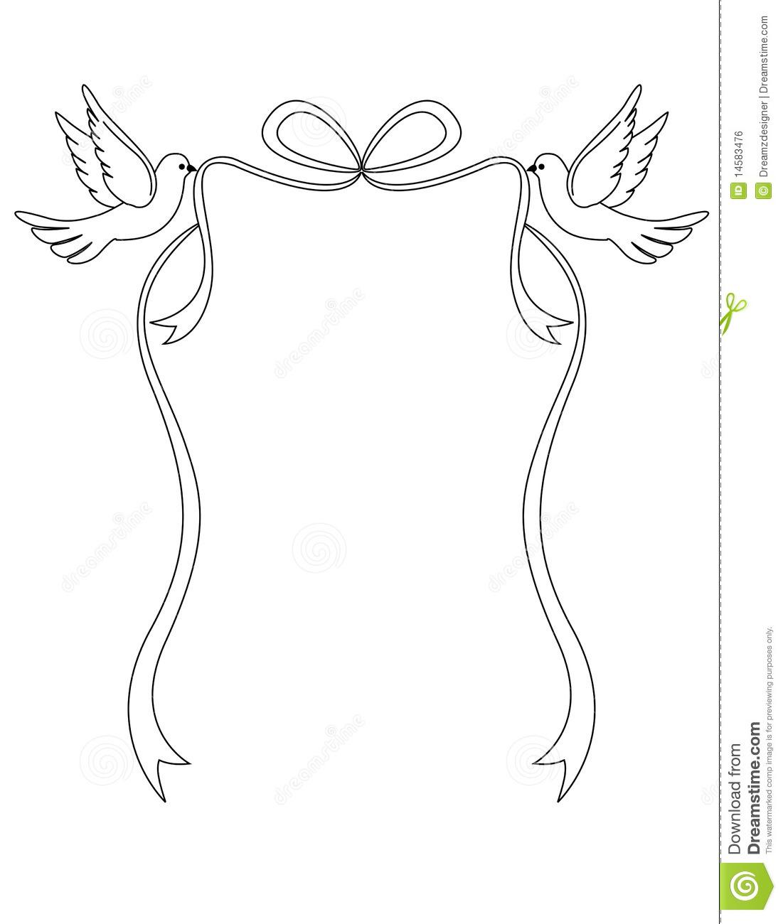 Mourning Dove clipart wedding ribbon Art Clip – Wedding Clipart