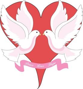 Peace Dove clipart two #1