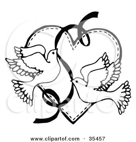 Mourning Dove clipart wedding ribbon C A Heart Over Other