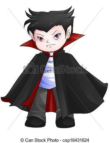 Dracula clipart chibi Cute Clipart illustration Dracula; cartoon