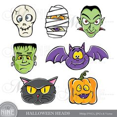 Dracula clipart frankenstein Cadena MNINEDESIGNS HEADS by Clipart