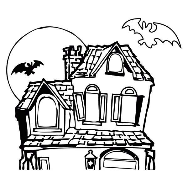 Drawn haunted house hounted Haunted Download Download coloring Haunted