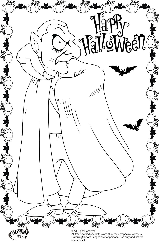 Dracula clipart halloween vampire costume Evil  Vampire Scary Pagesjpg