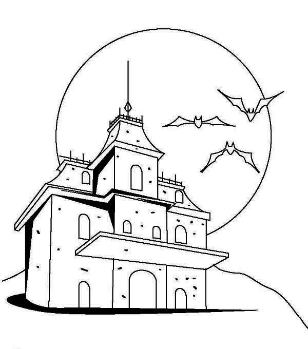 Drawn haunted house hounted House House Dracula in Haunted