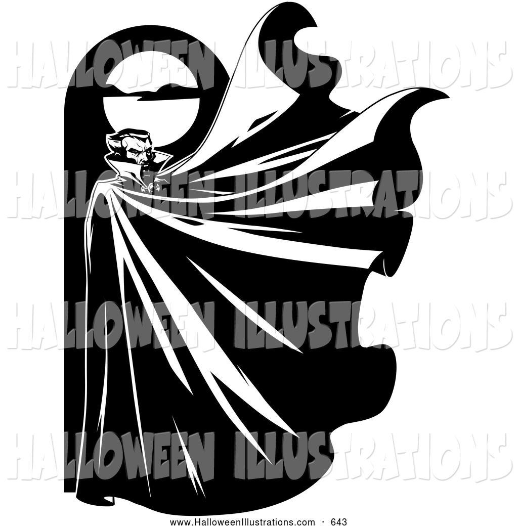 Dracula clipart moon Royalty Halloween Illustrations Dracula Free