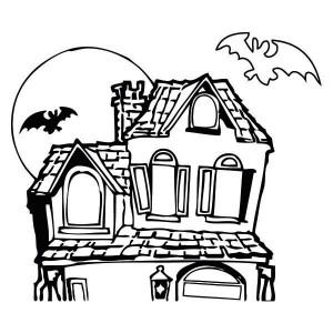 Dracula clipart spooky house Haunted%20house%20coloring%20page Images Panda Clipart Clipart