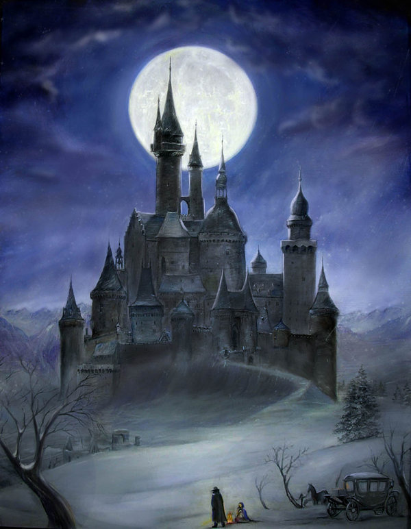 Dracula clipart spooky house Dracula castle Dracula's LordRichardDracul Painting