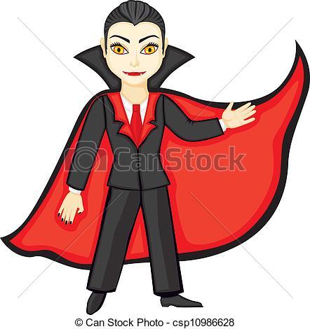 Dracula clipart vampire cape Red Vector suit Dracula Illustration