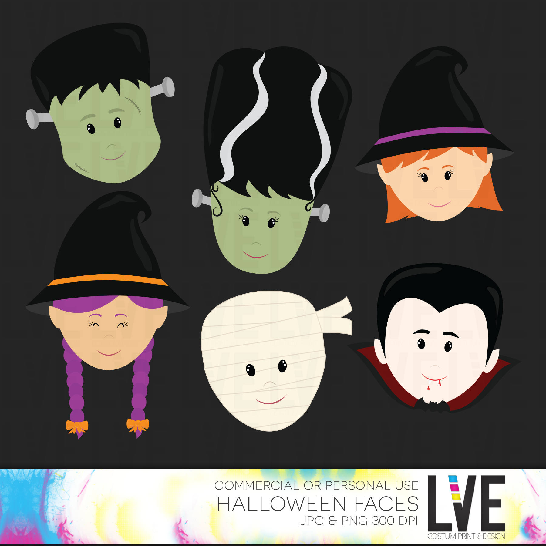 Dracula clipart witch face This Mummy Bride Frankenstein