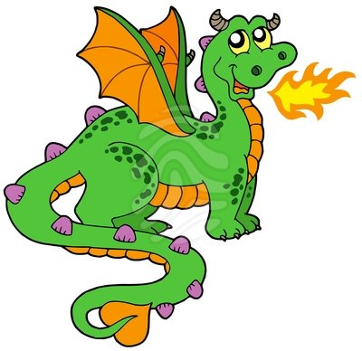 Little Dragon clipart green dragon Dragon Free Clip Clipart Art