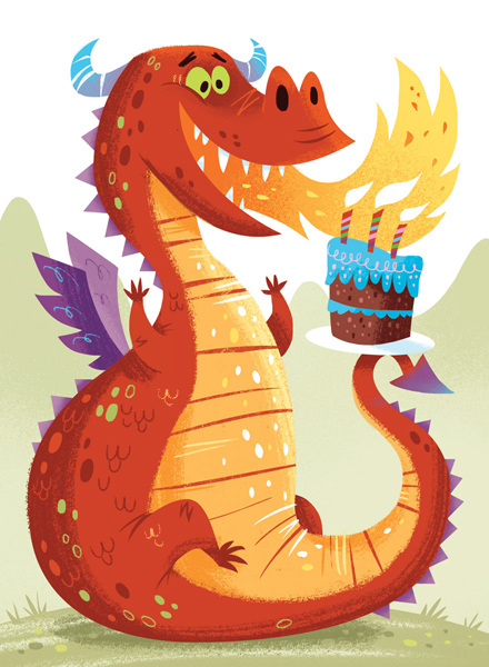 Birthday clipart dragon Cards Gorillustrator  Birthday