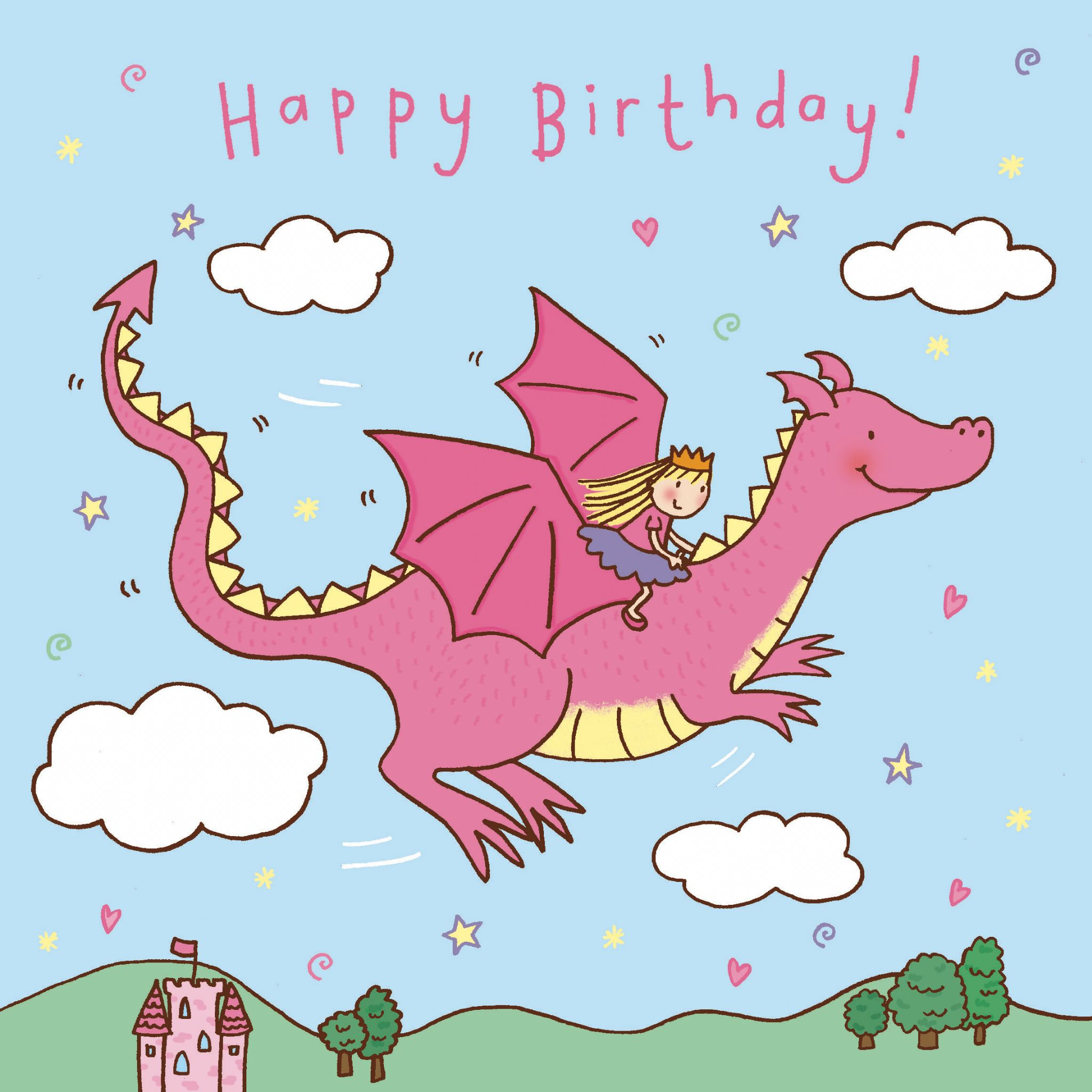 Birthday clipart dragon Birthday Dragon Happy  Flying