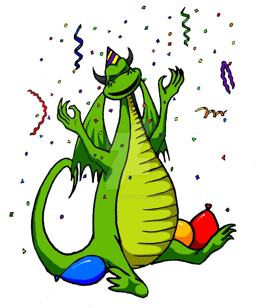 Birthday clipart dragon RachaelSelk DeviantArt by Dragon birthday