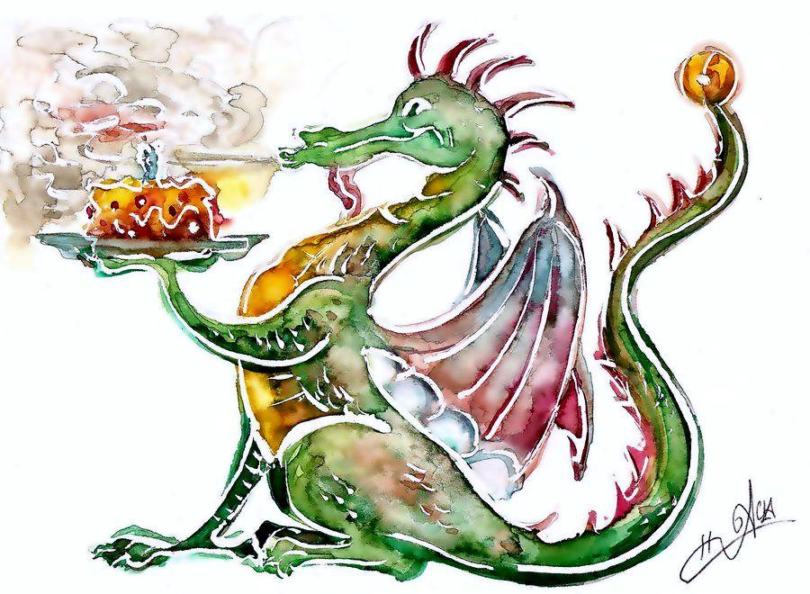 Birthday clipart dragon Google Birthday dragon Search fantasy