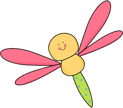 Dragonfly clipart Yellow Art Dragonfly and Pink
