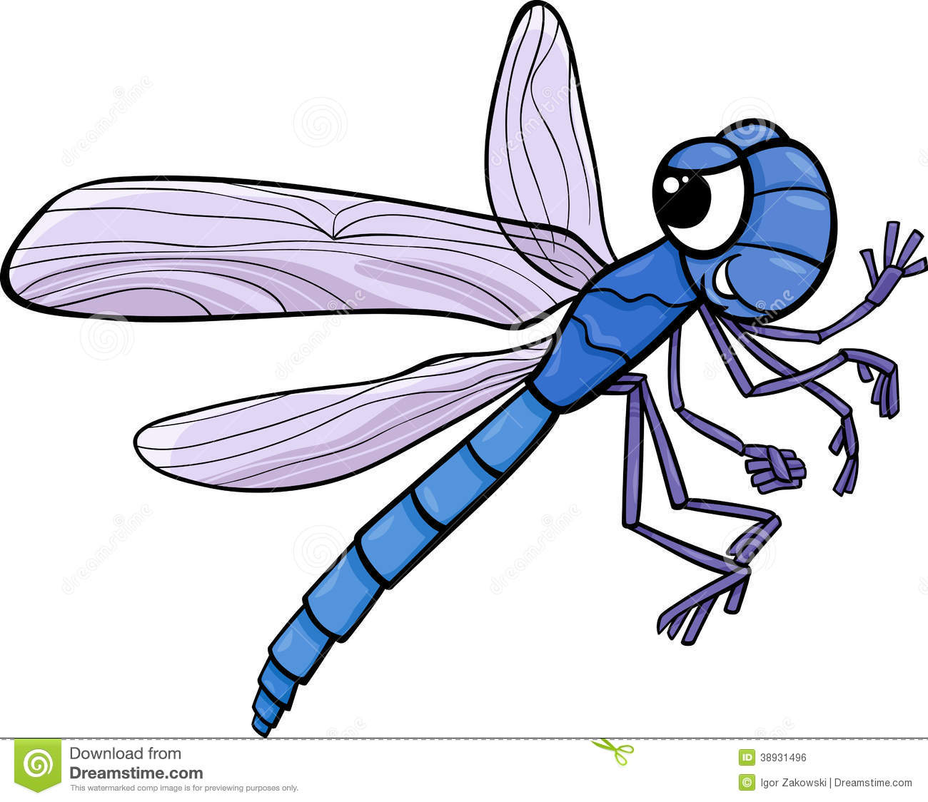 Bugs clipart realistic For Dragonfly Green & Pix