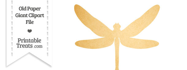 Yellow clipart dragonfly — Paper Giant Dragonfly Paper