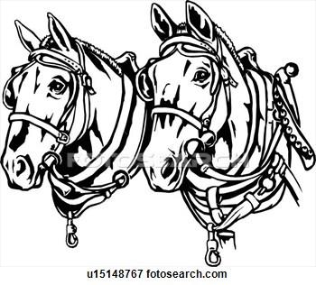 Draught Horse clipart Wagon Horse Draft Clipart Wagon