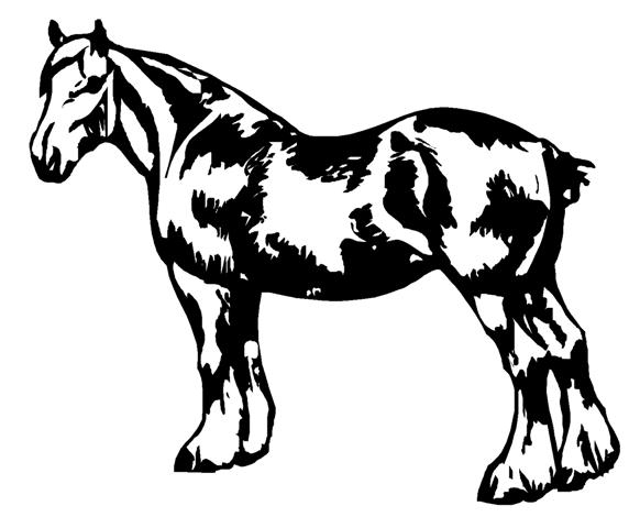 Draught Horse clipart 2 Sticker Decal Draft