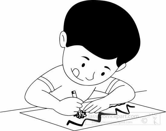 Child clipart black and white Girl Clipart Pencil Pictures From: