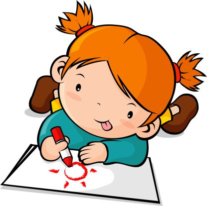 Drawing clipart Children children Clipart of drawing