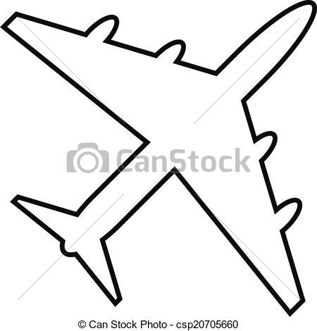 Drawn airplane clipart white #12