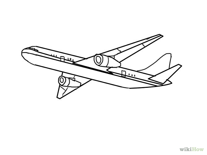 Drawn airplane simple #14