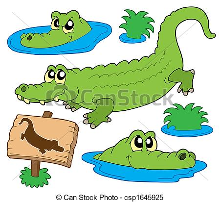 Alligator clipart water drawing In Drawing Crocodile Clip Images