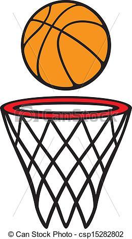 Drawing clipart basketball Of (basketball ball Vector hoop