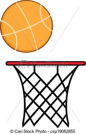 Drawing clipart basketball Vector With Ball csp19082855 Hoop