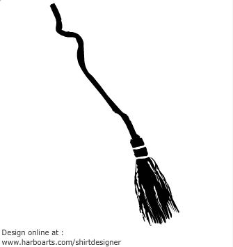 Black clipart broom Black clipartfox Broom Witches cliparts