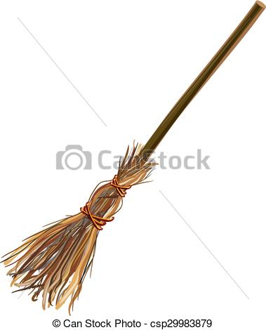 Brown clipart broom Illustration stick Vectors broom Witches