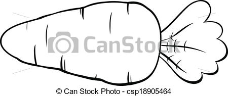 Carrot clipart line drawing Carrot And And White Cartoon