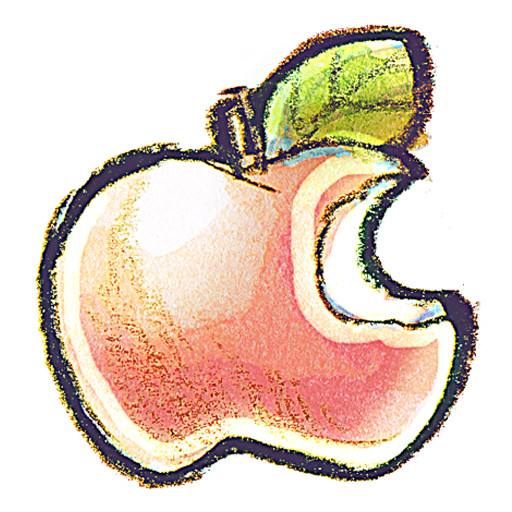 Crayon clipart apple Icon IconBug PNG Crayon Format: